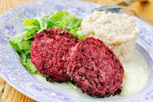 Rödbetsbiffar recept vegan