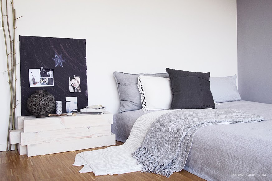baroquine diy nachttisch sitzbank beistelltisch einfach stapeln. Black Bedroom Furniture Sets. Home Design Ideas