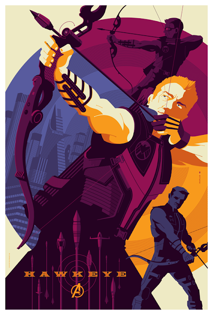 Mondo - Hawkeye The Avengers Screen Print by Tom Whalen