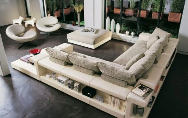 canapé salon beige