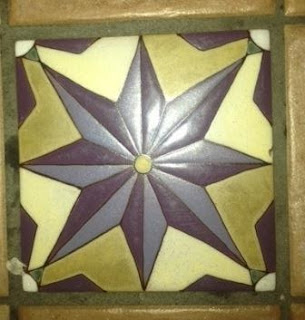 More hand-painted ceramic tiles that reflect the city's Spanish influence.