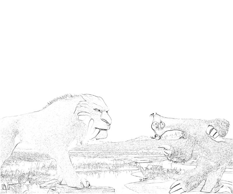 Diego Ice Age Coloring Pages, Kolorowanki Epoka lodowcowa - Strona 1 ...