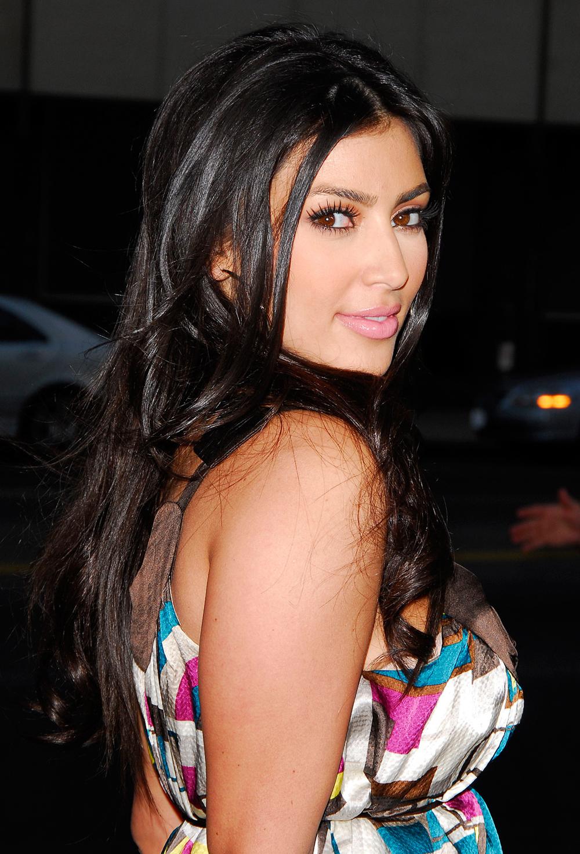 Kim Kardashian Dark Hair Color 04