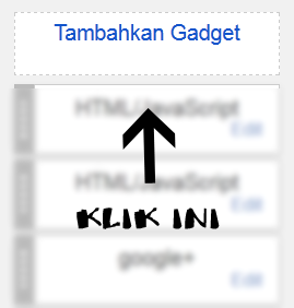 cara menambahkan gadget blog