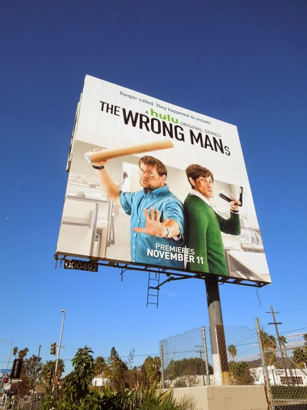 The Wrong Mans series premiere Hulu billboard