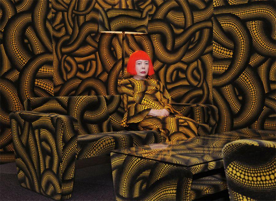 """""""Dots Infinity, es la obra de Yayoi Kusama, la colección bautizada por la artista japonesa para Louis Vuitton.""""  Louis Vuitton, la obra de Yayoi Kusama Sunglasses Waves"""