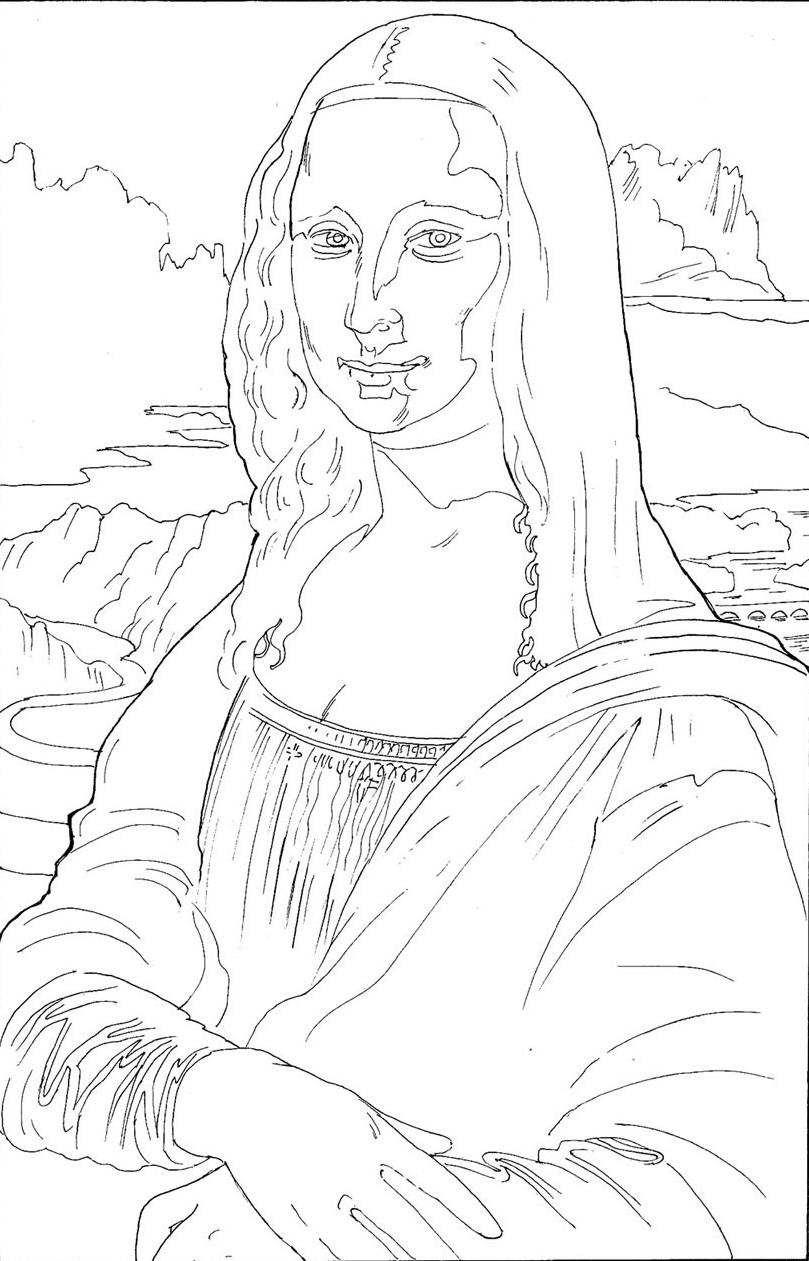 coloring pages of de vinci - photo#11