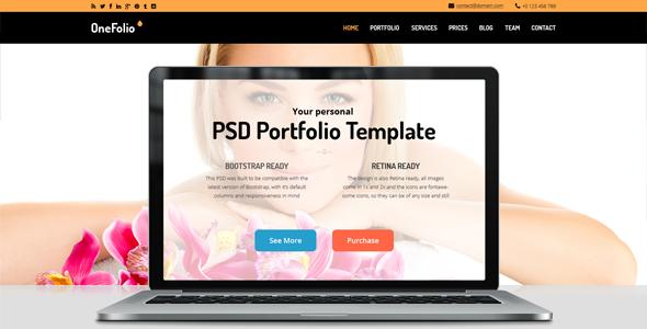 Portfolio PSD Theme
