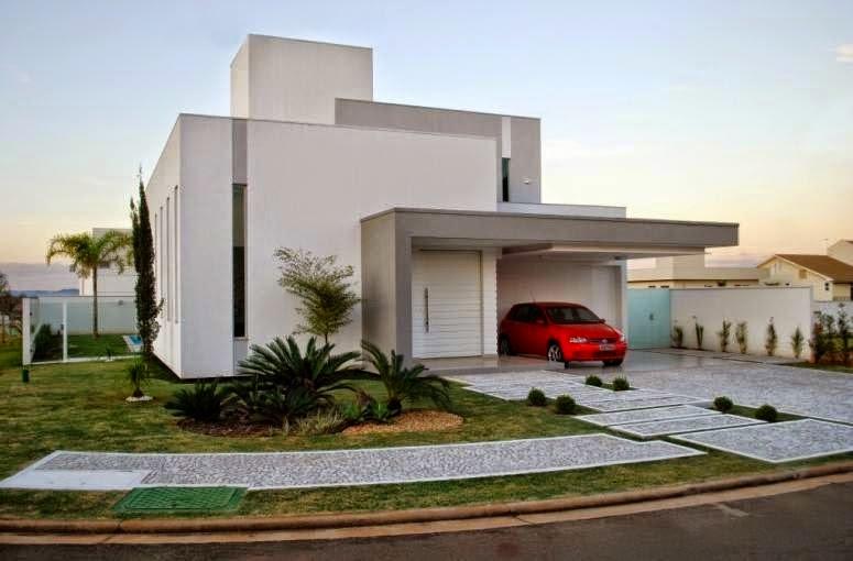 Construindo minha casa clean cal adas residenciais for Casa moderna arco