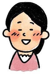 女性の表情のイラスト(照れ)