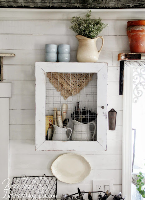 Repurposed Crate into Primitive Rustic Farmhouse Cupboard Cabinet via Knick of Time