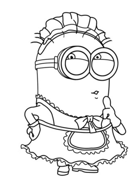 despicable me coloring pages minion