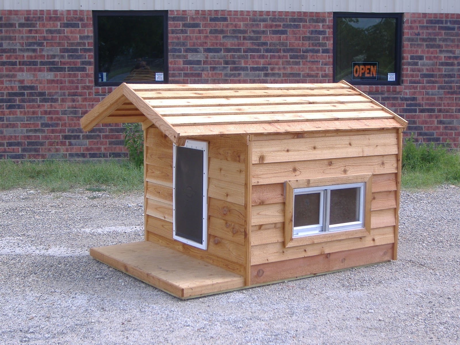 Giant dog houses for sale home improvement for Insulated heated dog house