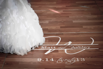 Personalized wedding dance floor monogram