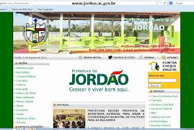 Portal de notícias da Prfeitura de Jordão