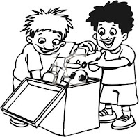 babies sharing caroon, black and white clipart babies sharing, kids sharing clipart, cartoon kids sharing