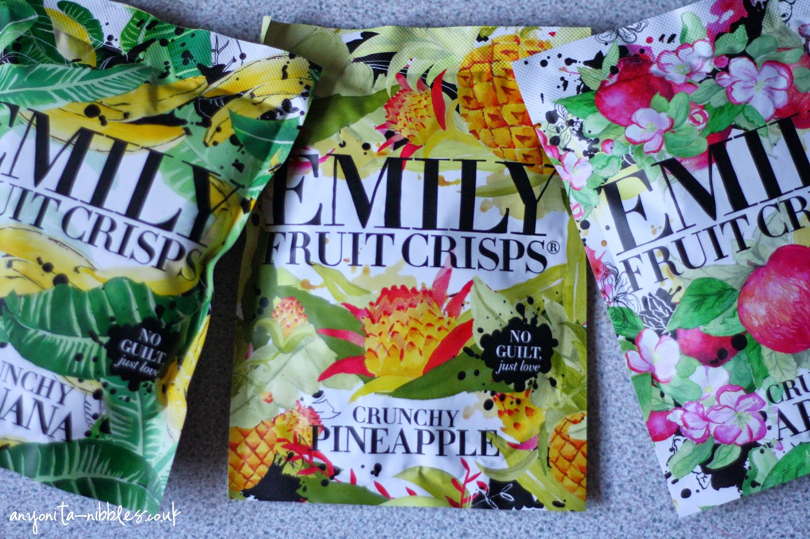 Range of Emily FRuit Crisps from Anyonita-nibbles.co.uk