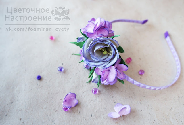 цветы из фоамирана для прически
