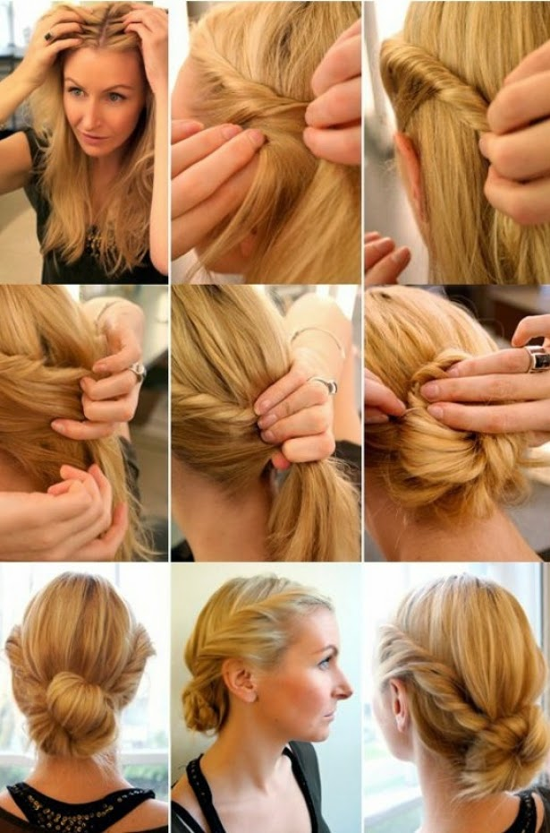 Excellent   Easy Step Step By Step Easy Diy Hairstyles Easy Step Hairstyles