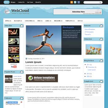 WebCloud blogger template. template blogspot magazine style. download template tech blogger template