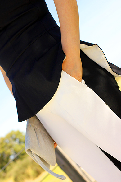 Zara Black & White Cropped Pants