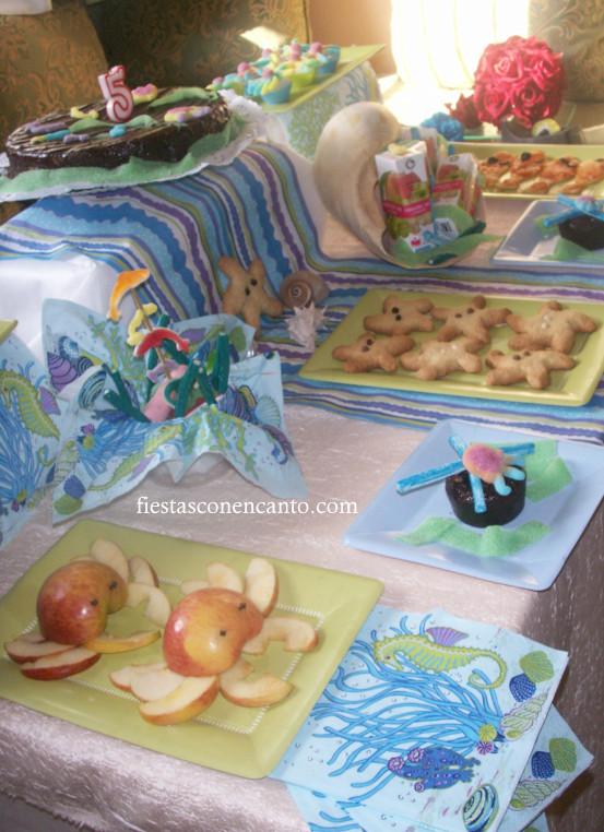 Fiestas con encanto buffet cumplea os infantil bajo el mar - Asegurar coche un mes ...
