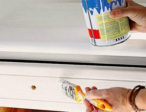 Aprender hacer bricolaje casero - Como lacar un mueble de madera en blanco ...