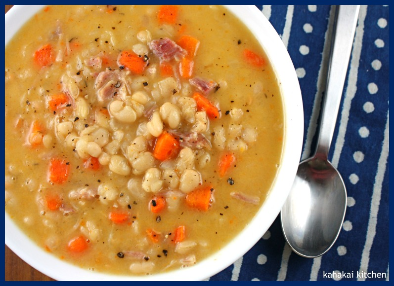 hearty navy bean soup recipe chopped ham navy beans navy bean soup