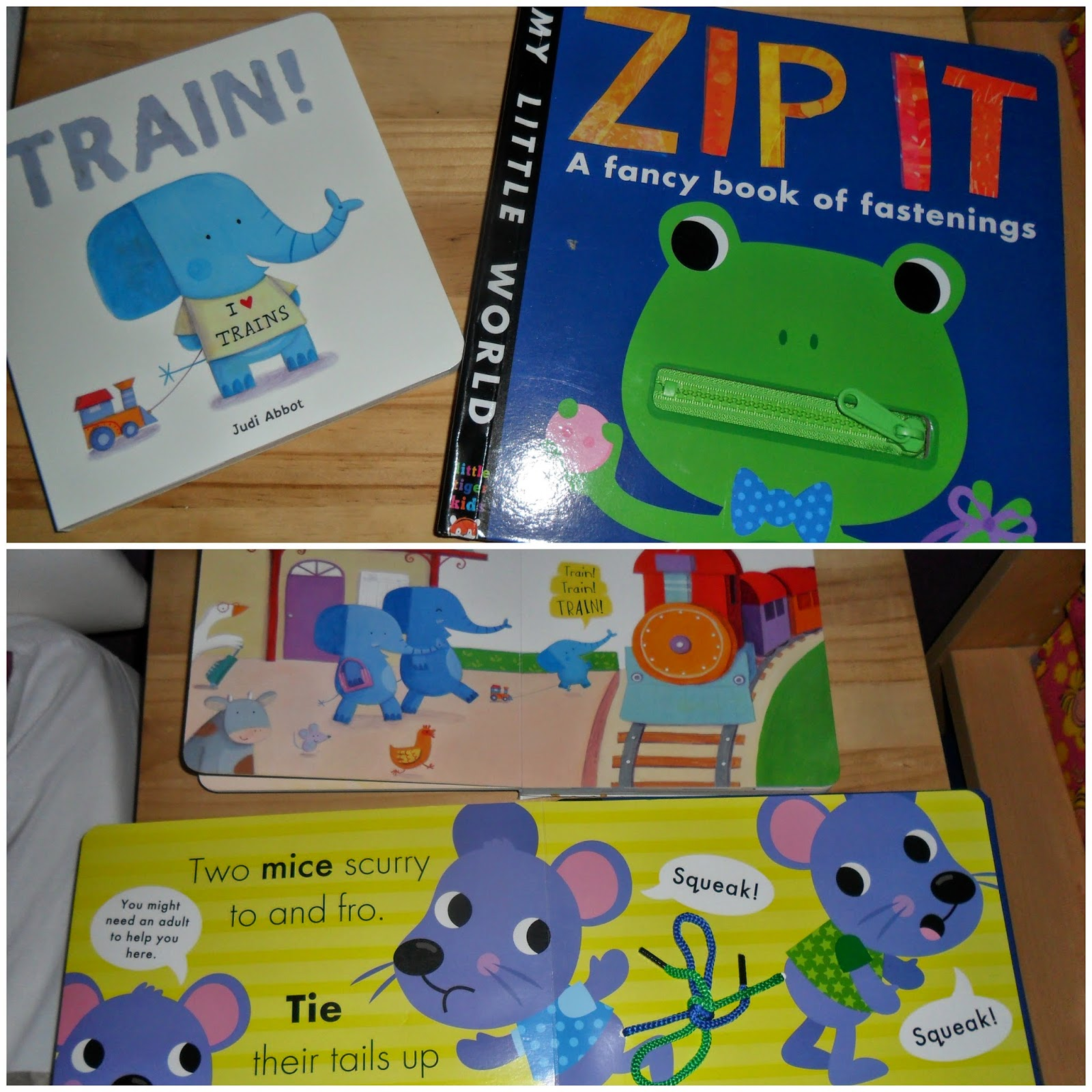 train! and zip it by little tigers