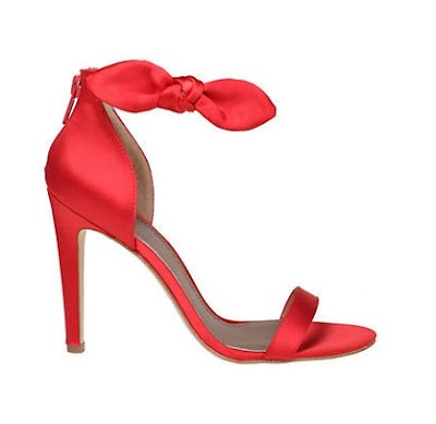 Badgely Mishka red satin high heels