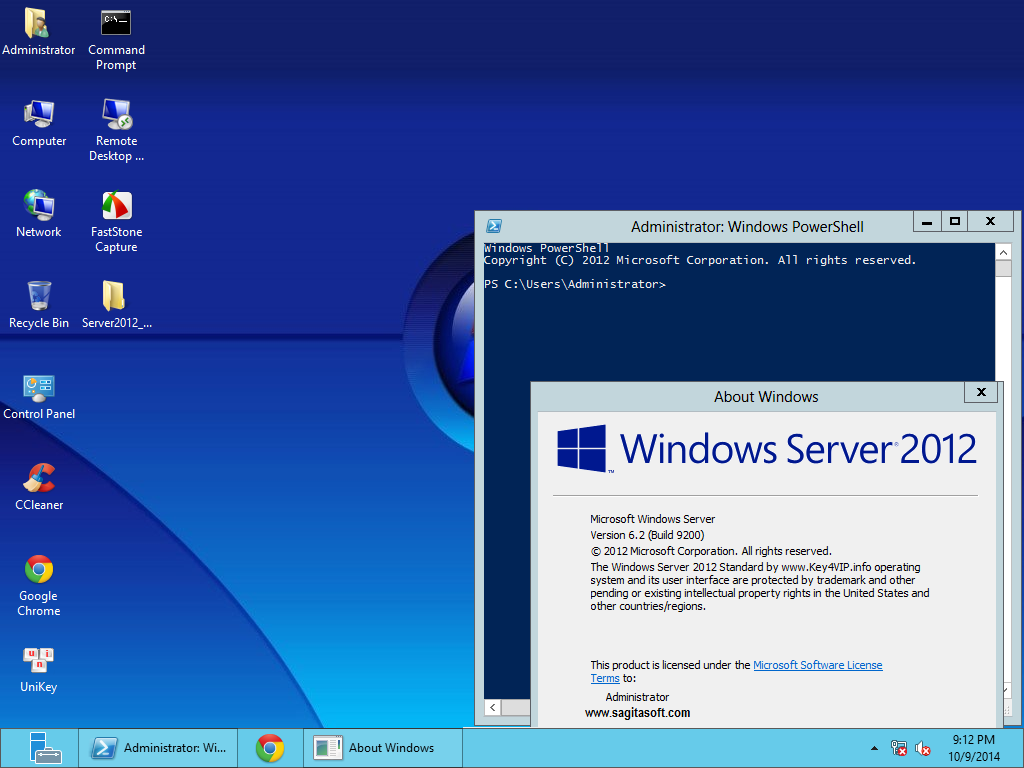 Ghost Windows Server 2012