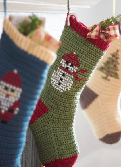 Crochet Y Stitch : Las Teje y Maneje: CROCHET & CROSS STITCH XMAS STOCKINGS