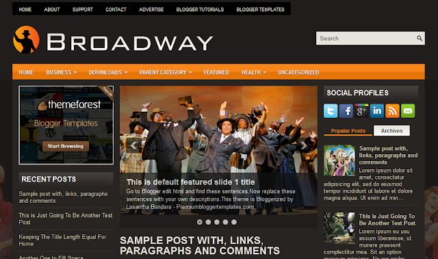 Broadway Blogger Template