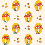 free mushroom and snail pattern paper