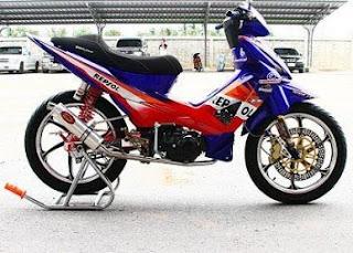 Gambar modifikasi motor Honda Revo 100cc Terbaru Keren dan Good