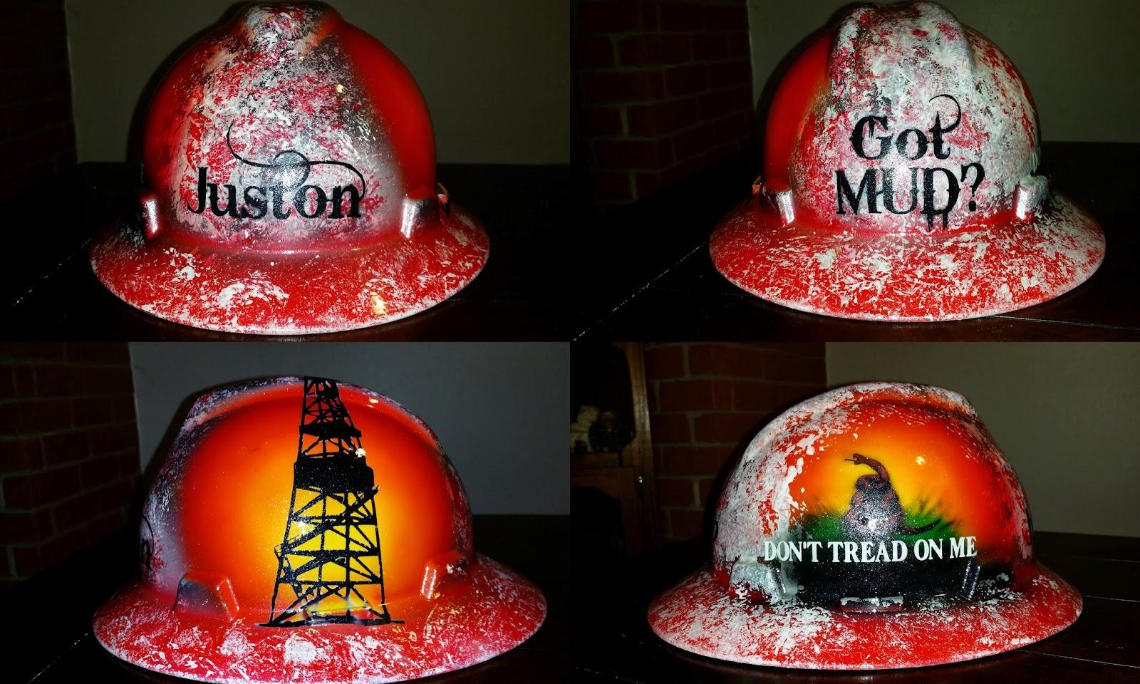 custom got mud. mud engineer hard hat