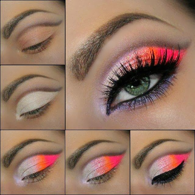 Favoritos Make Das Gurias: TUTORIAL: Maquiagem Neon Eye MC87