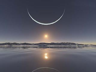 صور القمر على شكل هلال