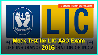 LIC AAO 2016 Mock Test