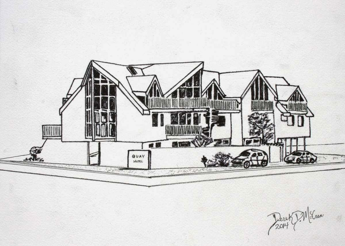 house pen and ink drawing - Beach House Drawings