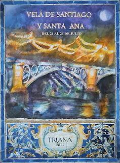 Cartel Velá de Santiago y Santa Ana 2011 - Alfonso Orce
