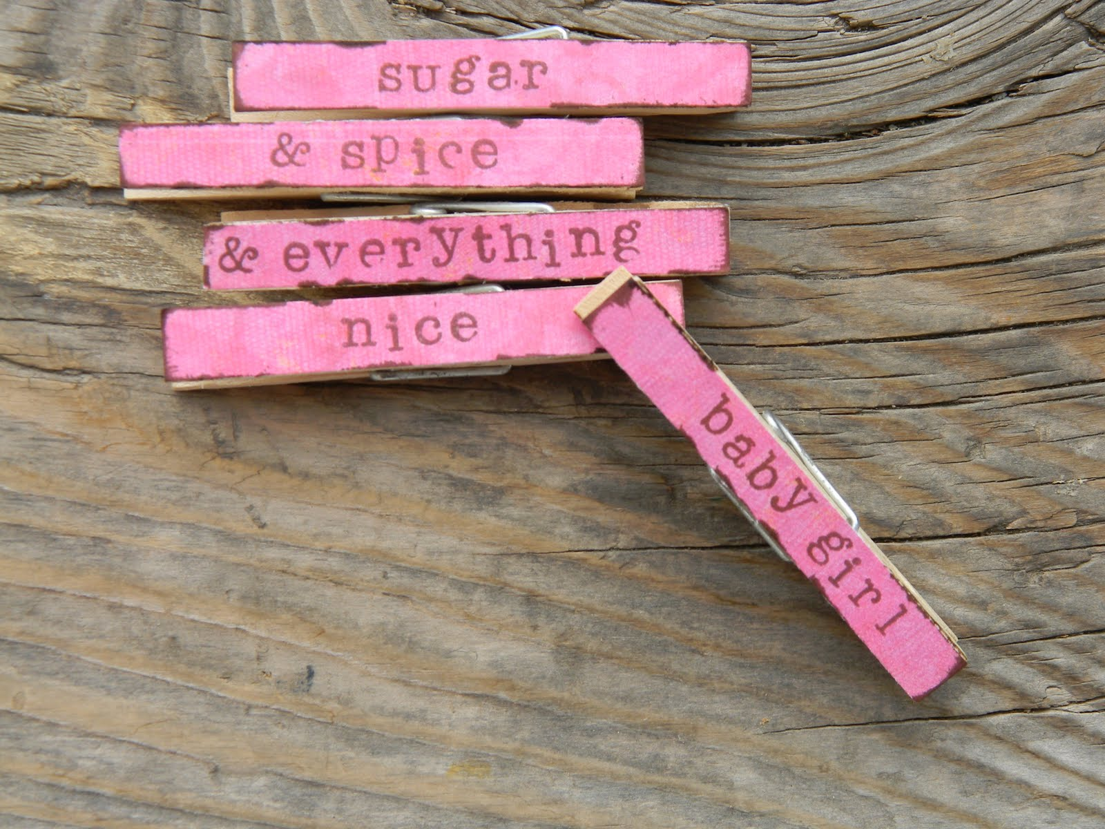 Attractive Baby Shower Clothespins