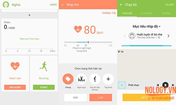 Ứng dụng đo nhịp tin, hỗ trợ luyện thể thao trên S6 Docomo