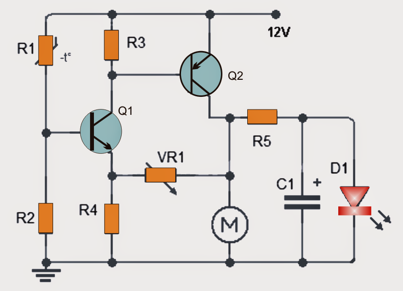 How to make a Temperature Triggered DC Fan Speed Controller Circuit