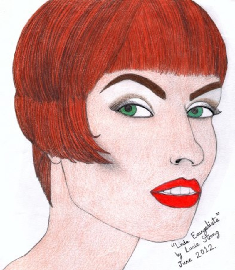 linda evangelista illustration