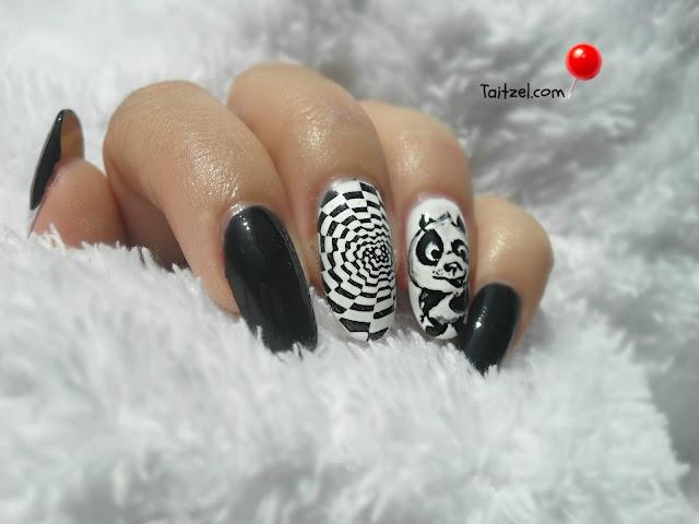manichiura cu oja alba si oja neagra nail art  flormar full color