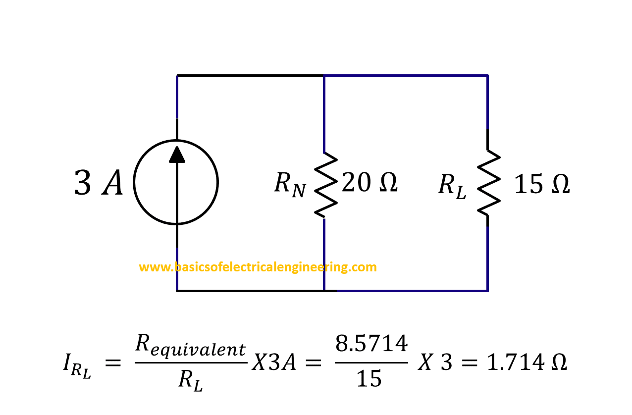 Norton Theorem Basics Of Electrical Engineering Voltage Divider Division Rule Solved Problems Step 6 Application Current