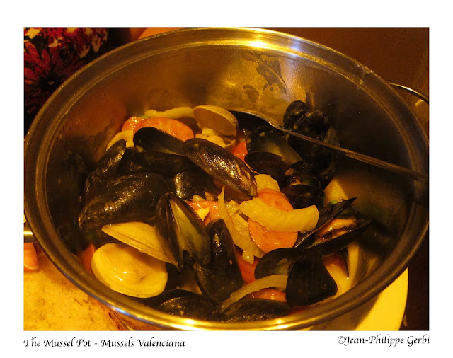 Image of Mussels Valenciana at The Mussel Pot in Greenwich Village NYC, New York