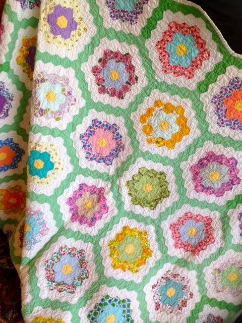 The hexie blog grandmother 39 s flower garden - Grandmother s flower garden quilt ...