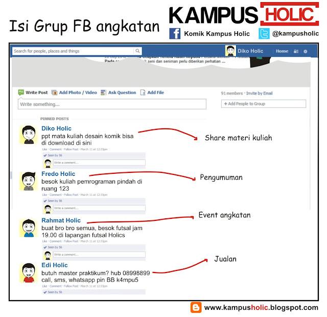 #084 Isi Grup FB angkatan kampus holic